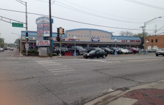 Downtown River Grove Retail For Lease in Corner Strip Center on Grand