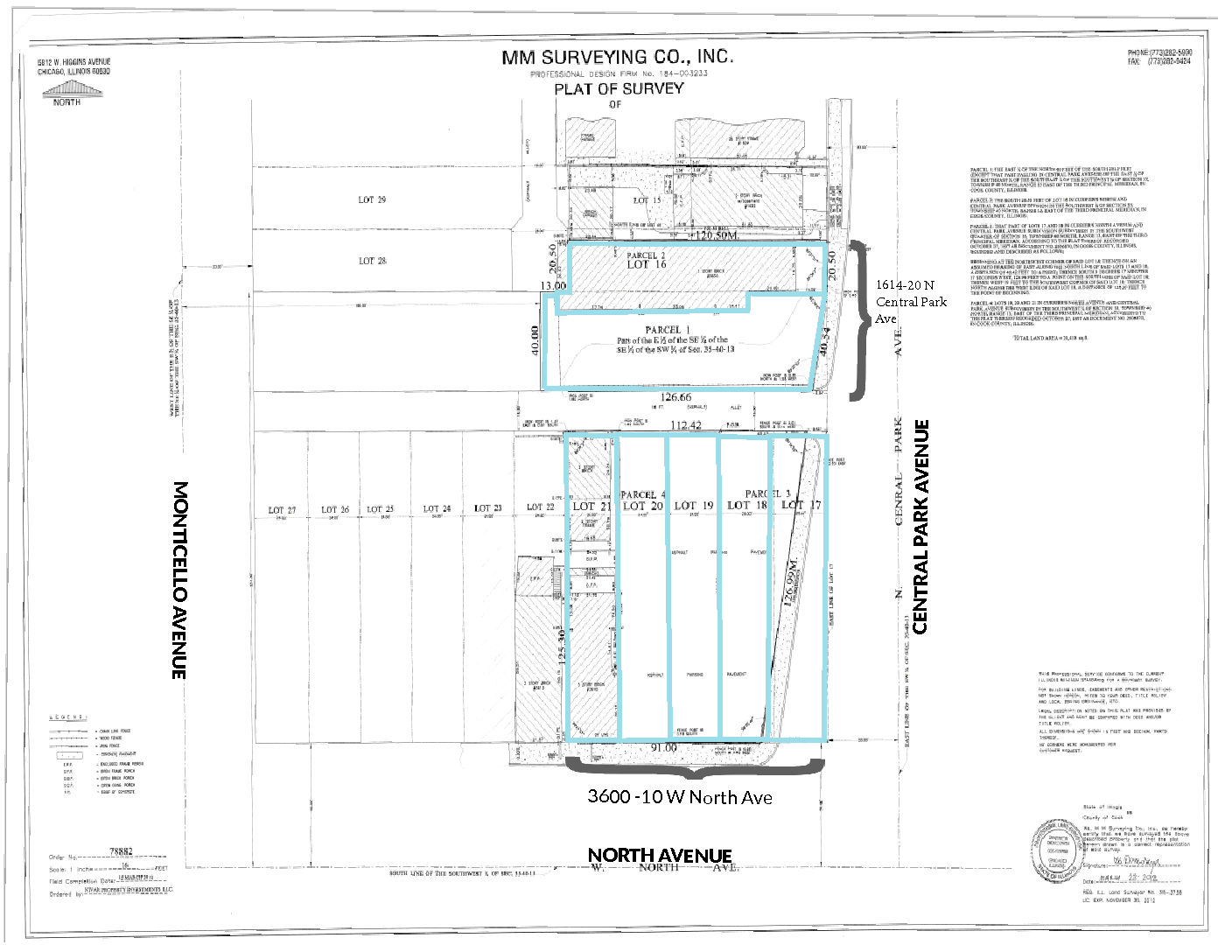 Humboldt Park Corner Commercial Land Development Opportunity on North & Central Park Aveunes
